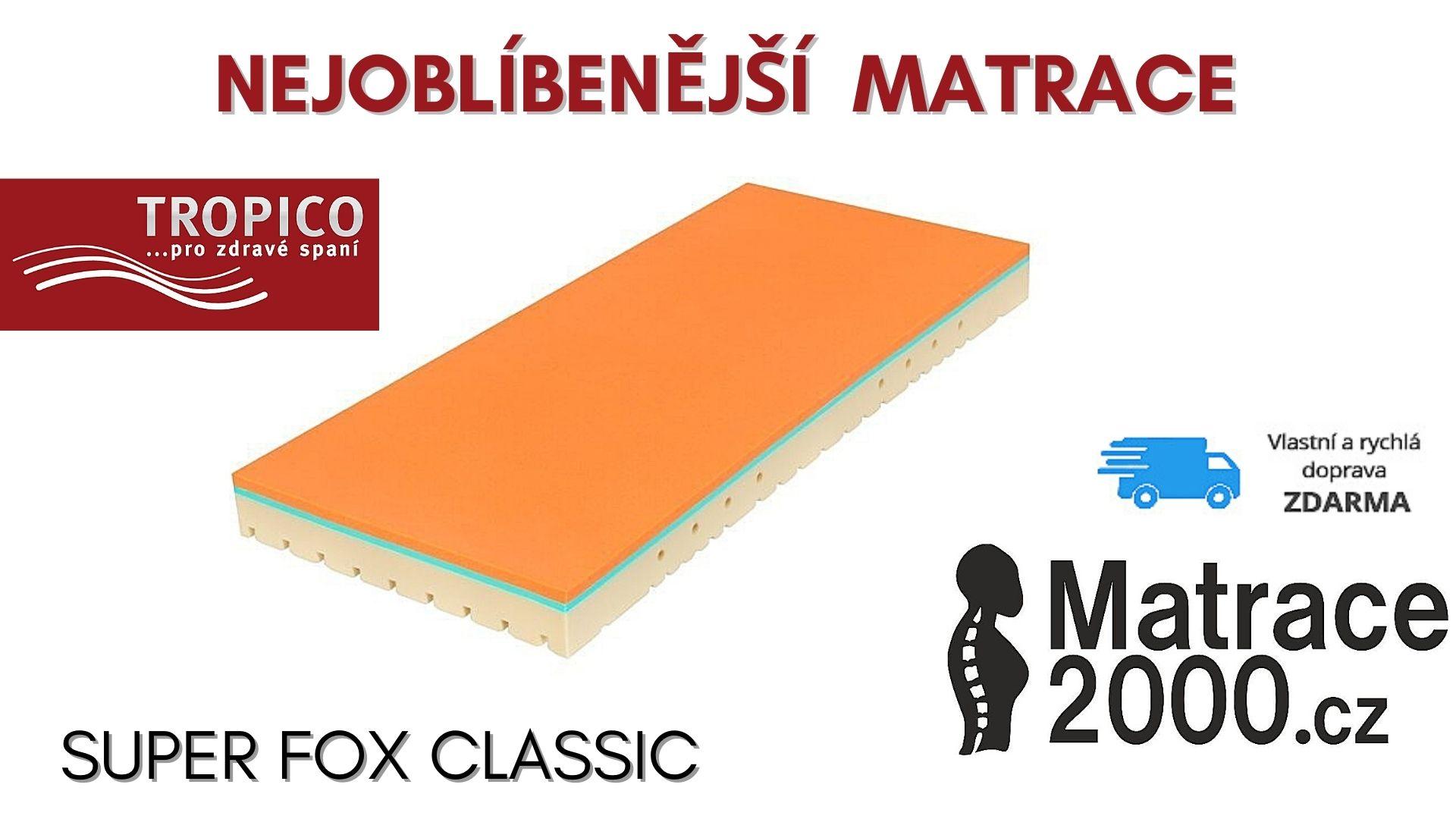 Nejoblíbenější matrace - Matrace Super Fox Classic s matracovým chráničem + prodloužená záruka + matracový chránič v hodnotě 555 Kč - Matrace2000.cz