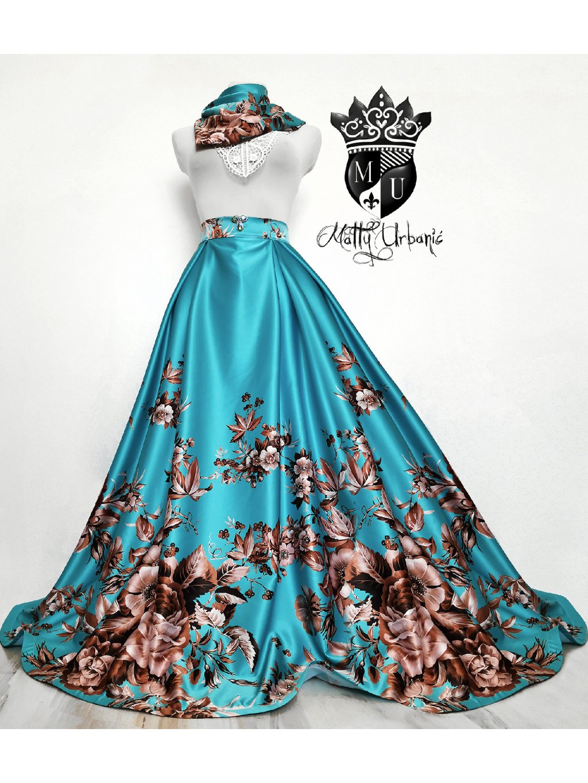 sukňa Tyrkys