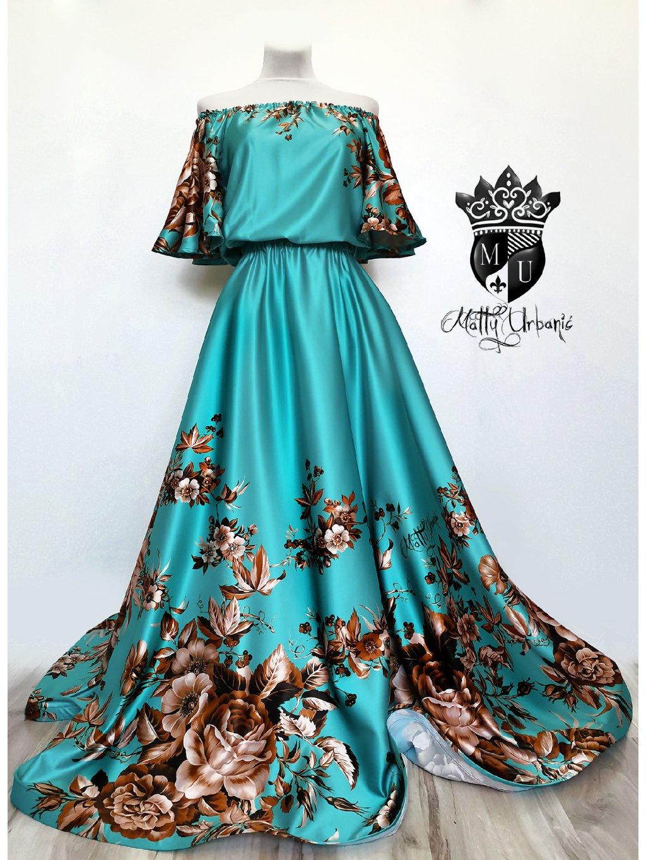 šaty Tyrkys