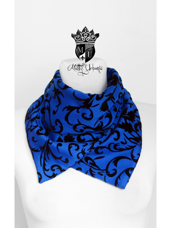 ROYAL BLUE set - čiapka, nákrčník