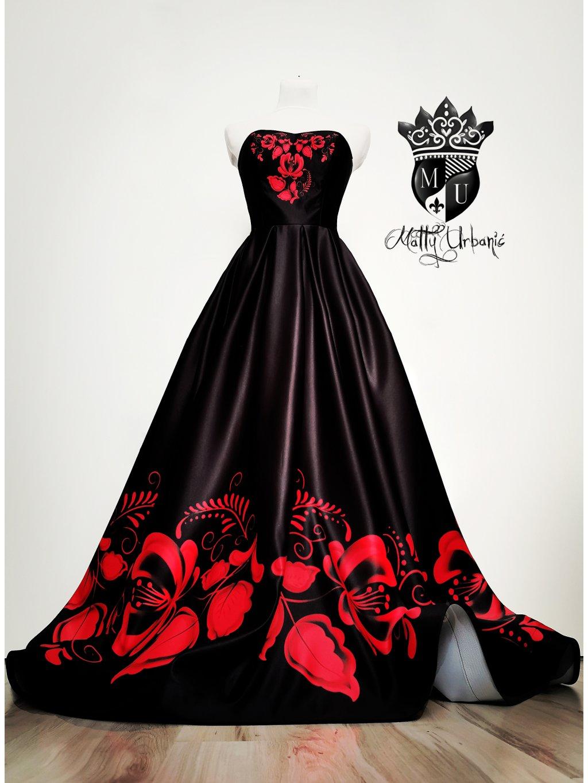"šaty ""FOLK BLACK"""