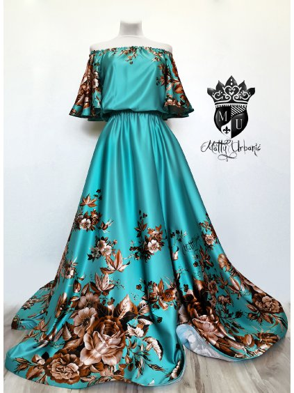 set - sukňa Tyrkys + blúzka