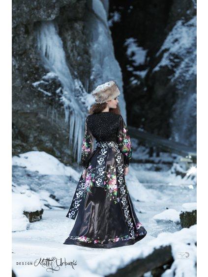 čierne FOLK šaty