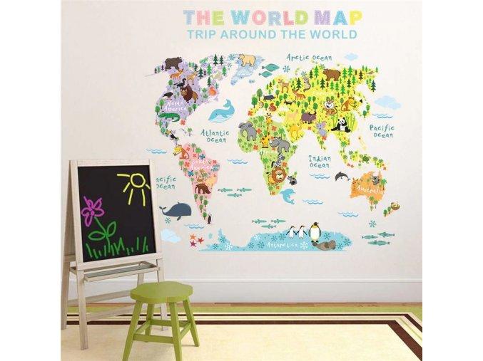mapa sveta se zviratky 3