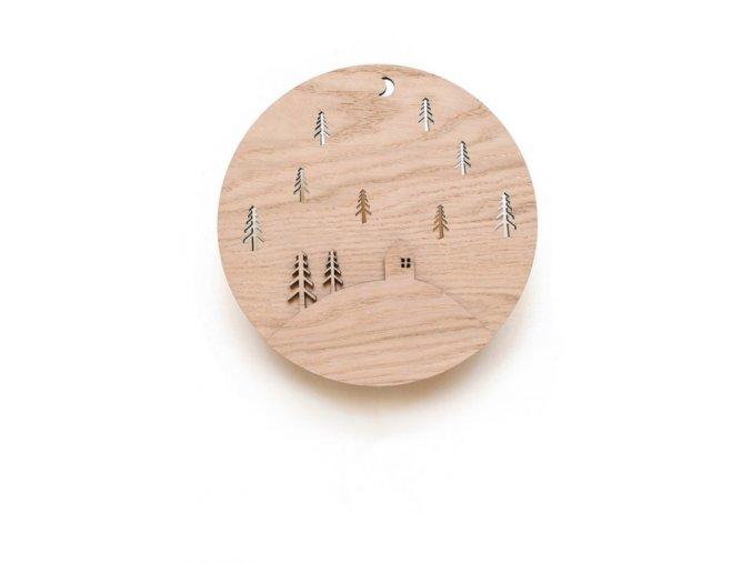 Dřevěná nástěnná lampička pro děti LESÍK