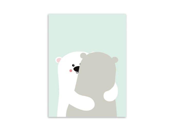 obrazek pastel medvidci