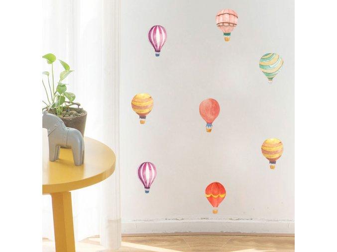 Samolepky na zeď - létající balóny