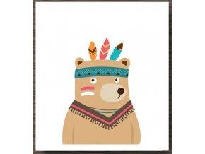 NORDIC indiansky medved obrazek na zed