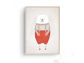 Medvídek cervene dupacky