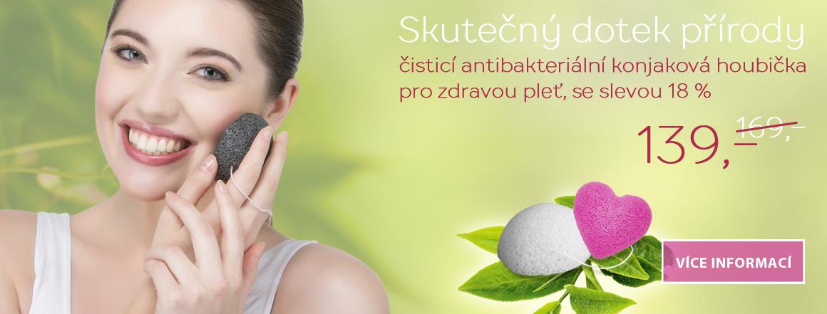 NOVINKA !! Konjaková houbička - přírodní hit čištění obličeje