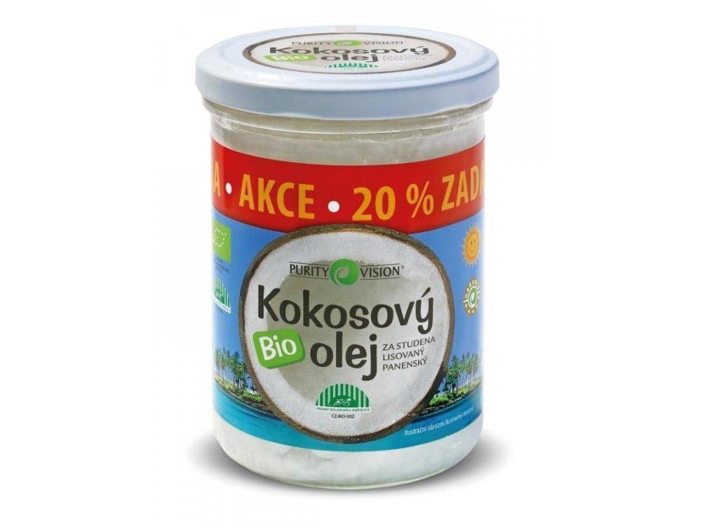 Kokosový olej panenský BIO 300ml+20% zdarma