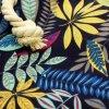 Plážová taška - Teal And Blue Flowers