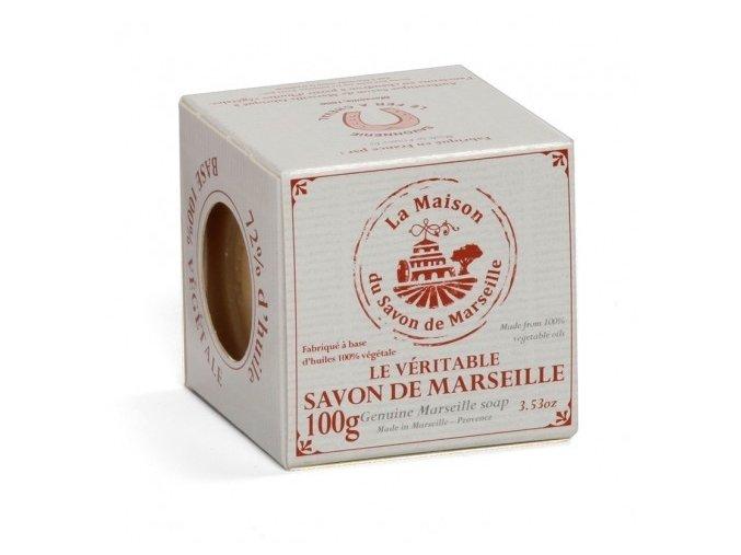 Tradiční mýdlo z Marseille - Palme cube (Palmová kostka) v krabičce 100g