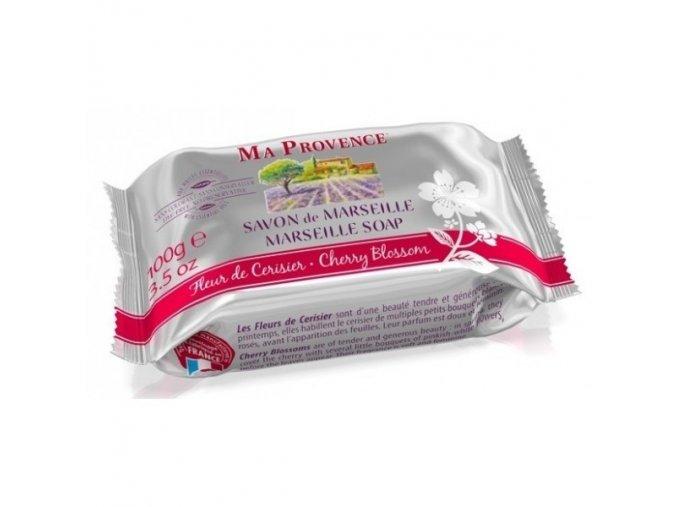 Mýdlo MARSEILLE - Třešňový květ 100g