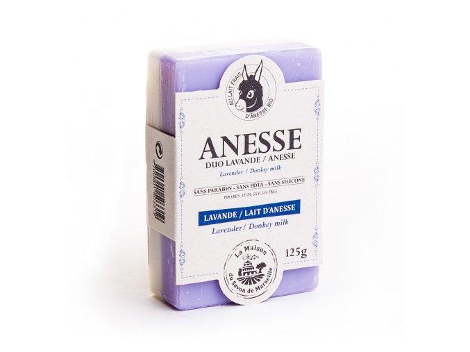 Mýdlo s oslím mlékem DUO - Lavande de Provence (provensálská levandule) 125g
