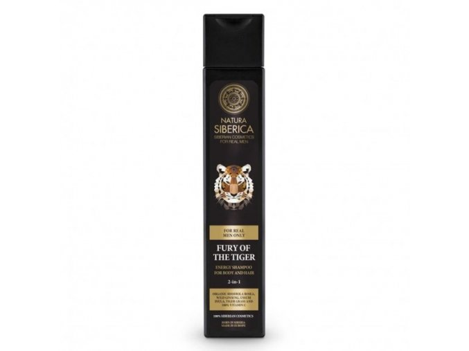Energizující šampon na vlasy a tělo 2 v 1 - Nezkrotnost tygra 250ml
