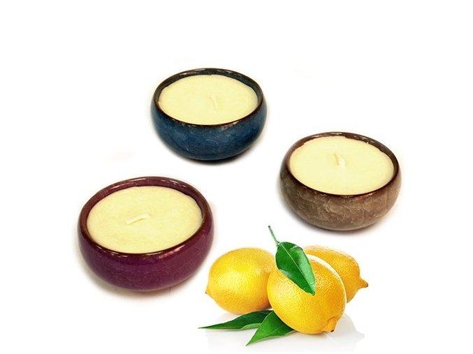 Čajové vonné svíčky - sada - Lemon Tea