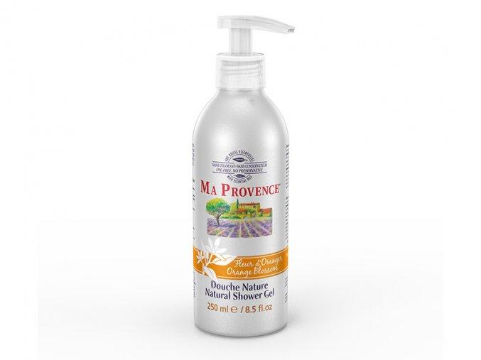 Pravý přírodní sprchový gel s vůní KVĚT POMERANČE  250mlr