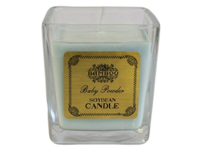 Bamboo sojová vonná svíčka - Dětský pudr