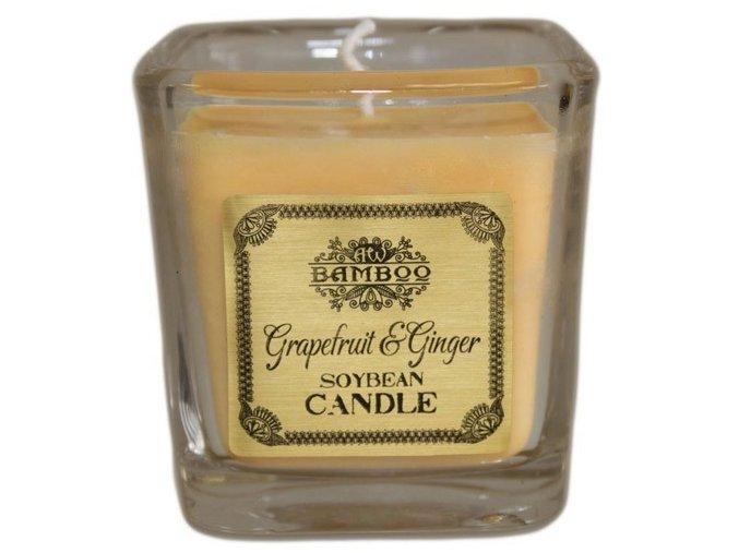 Bamboo sojová vonná svíčka - Grapefruit a Zázvor