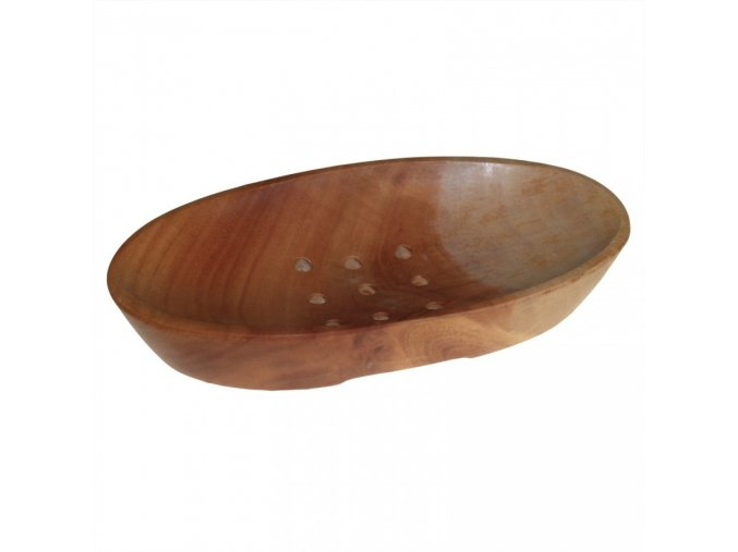 Mahagonová miska na mýdlo - ovál