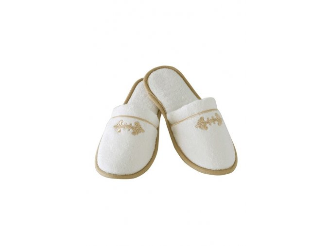 Bambusové pantofle BARON - smetanová barva