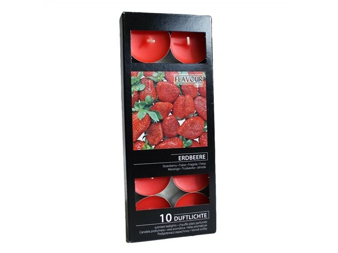 Vonné čajové svíčky Jahoda box 10ks