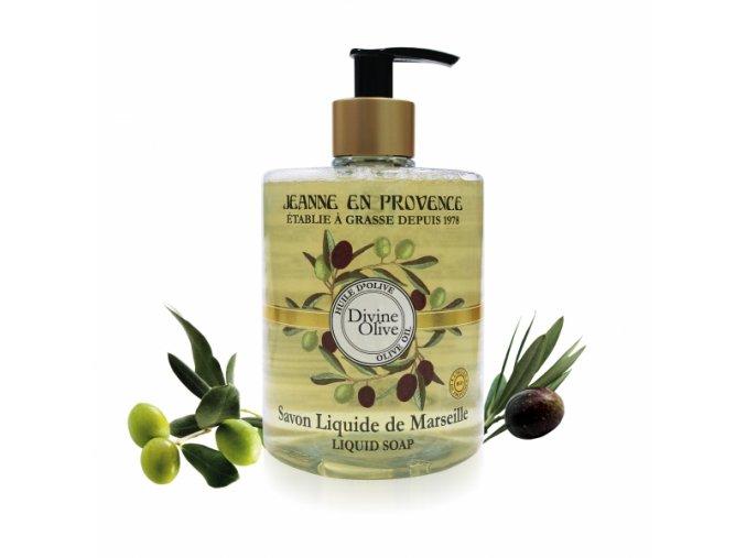 Jeanne de Provance Tekuté mýdlo z Marseille s BIO olivovým olejem 500ml