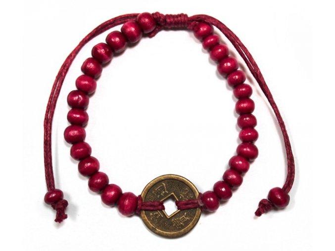 Náramek pro štěstí Feng Shui - červený