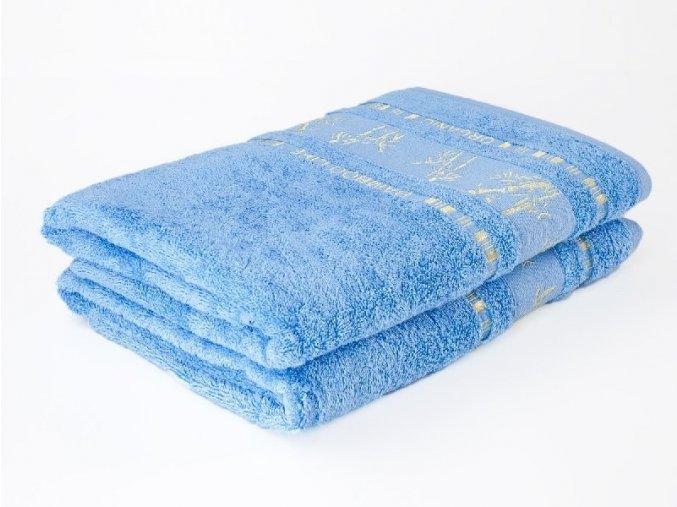 Bambusový ručník Bamboo LIFE - světle modrý