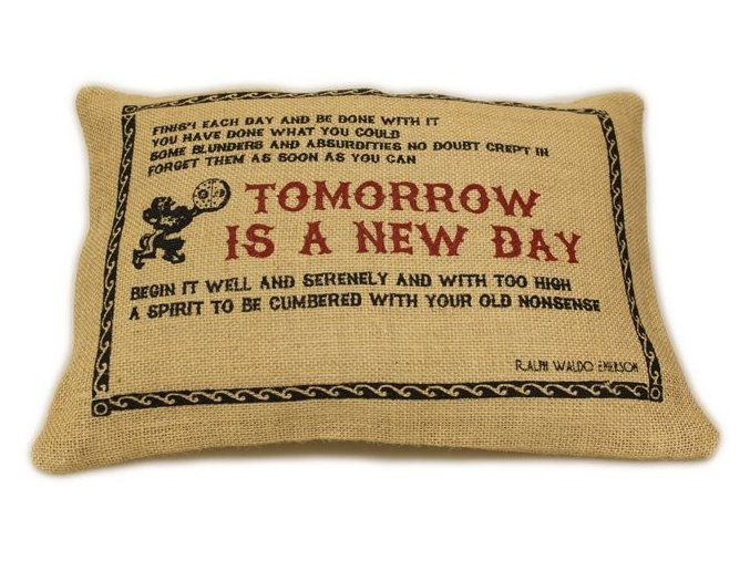 """Jutový povlak na poltštář """"Tomorrow"""""""