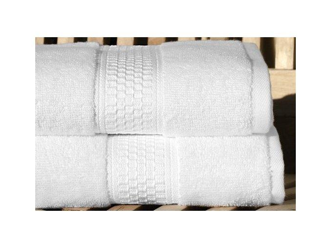 Luxusní ručník BIO ORGANIC z biobavlny -Bílá barva