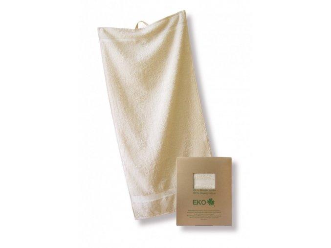 Ručník ORGANIC z biobavlny 90x40 - Přírodní barva