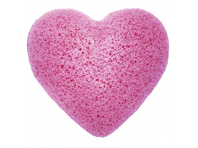 Konjaková houbička na čištění obličeje – Levandulové srdce