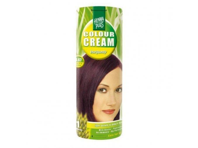 Přírodní barva krémová VÍNOVĚ ČERVENÁ 3.67 60ml