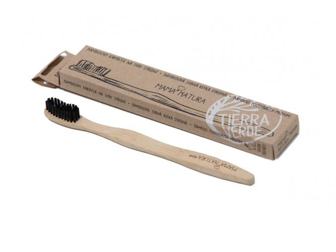 Bambusový kartáček na zuby střední - medium