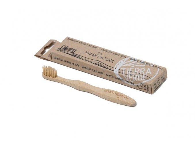 Bambusový kartáček na zuby střední - soft mini