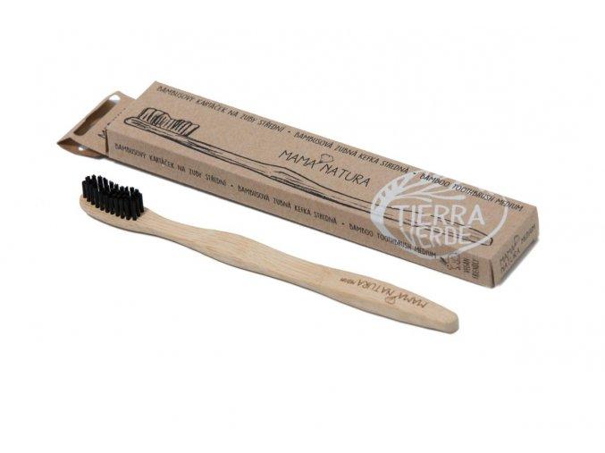 Bambusový kartáček na zuby střední - soft