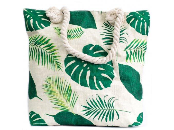 Plážová taška - Tropická zelená