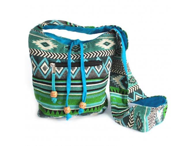 Taška přes rameno NEPAL zelená