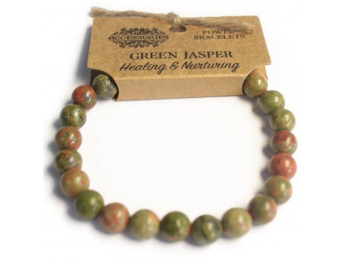 Náramek - Zelený jaspis