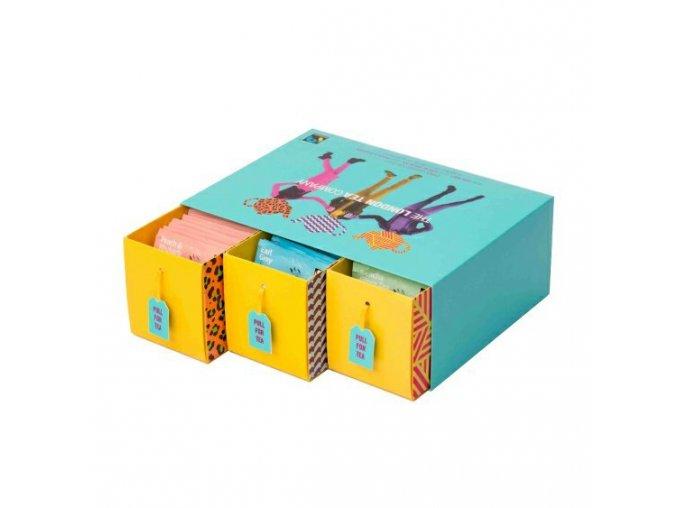 Fairtrade dárková sada mix sáčkových čajů TRIPLE pack 75ks 3 příchuti