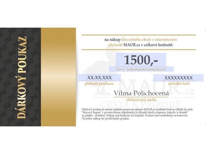 dárkový certifikát MAUR.cz 1500,- Kč