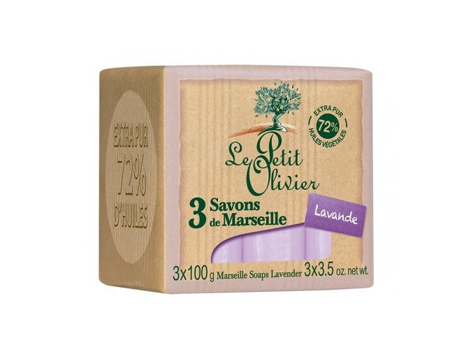 Marseillské mýdlo - Levandule, 3x100g MAUR.cz