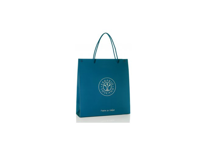 Střední dárková taška - modrá 20x8x26cm