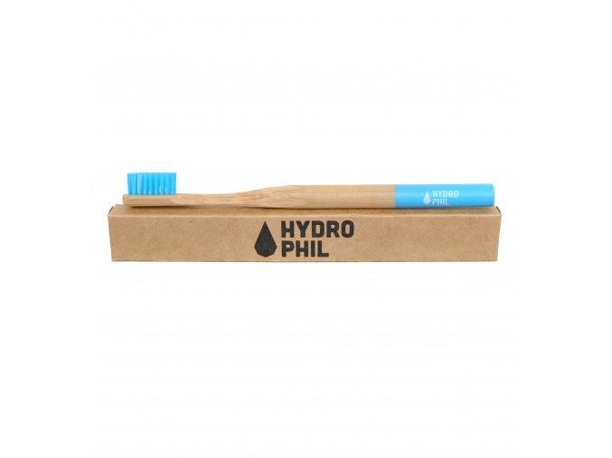Bambusový kartáček pro děti na zuby extra měkký modrý