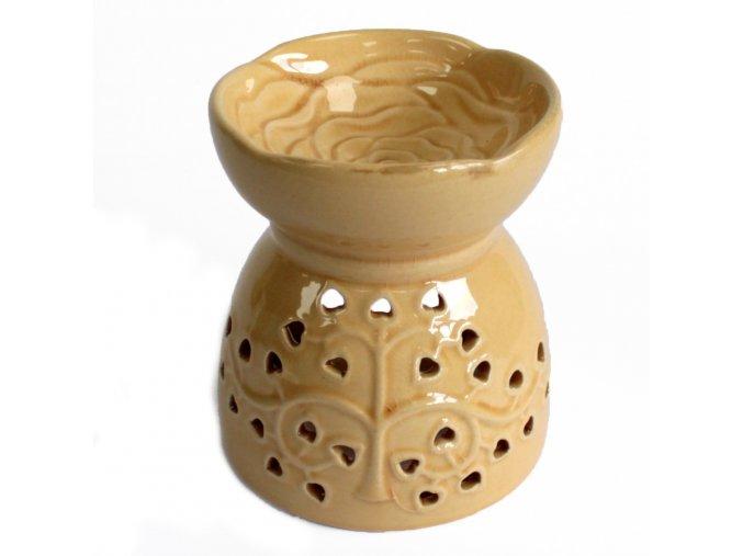 Keramická aromalampa - Strom života - barva medová