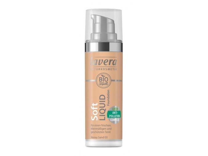Lavera Lehký tekutý make-up - 03 medová 30 ml