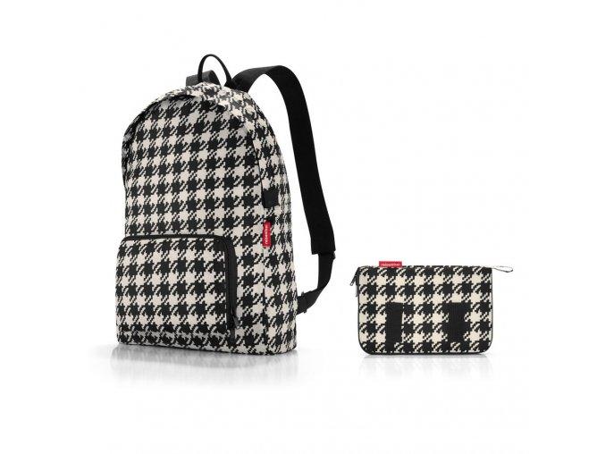 Skládací batoh Mini maxi rucksack fifties black