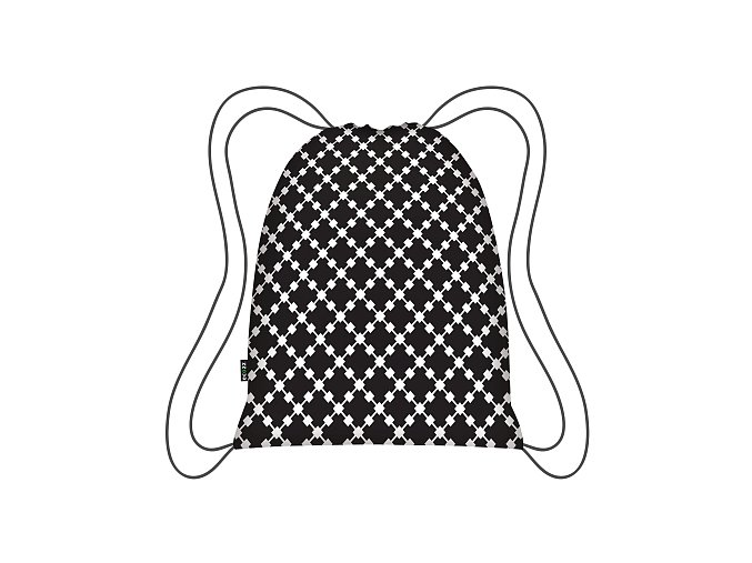 Skládací batoh Black Squares Eco Backpack